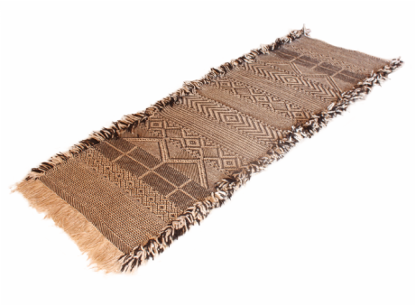 Moroccan Zanafi Rug Pure Wool Handwoven 204 cm x 75 cm / 6.7 ft. x 2.5 ft (VR22)